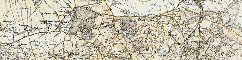 Old map of Windmill Barrow in 1897-1909