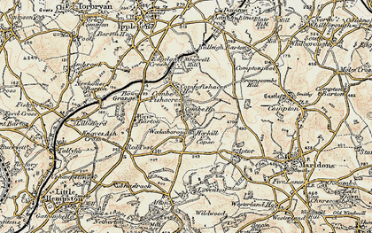 Old map of Wrigwell Hill in 1899