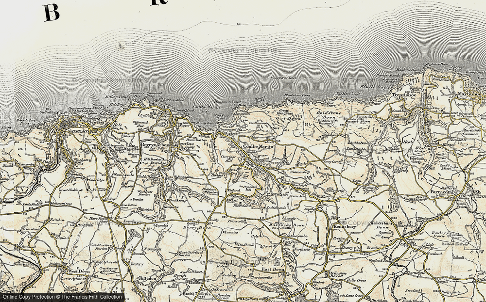 Old Map of Historic Map covering Lester Cliff in 1900