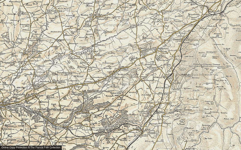 Old Map of Historic Map covering Axworthy in 1900