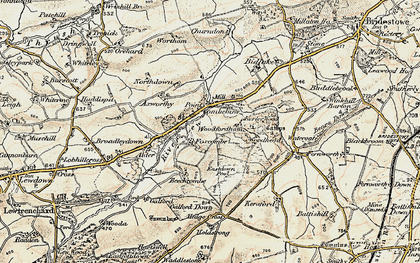 Old map of Axworthy in 1900