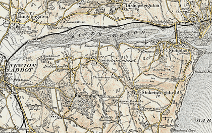 Old map of Combeinteignhead in 1899