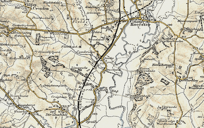 Old map of Limecrofts in 1902