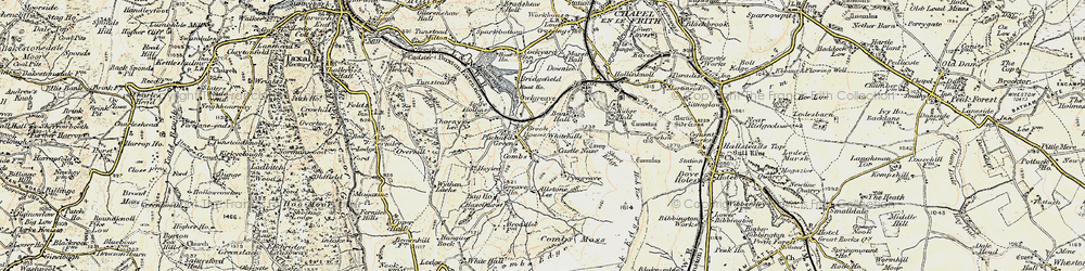 Old map of Whitehills in 1902-1903