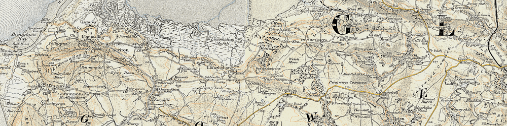 Old map of Common, The in 1900-1901