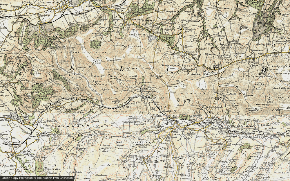 Old Map of Commondale, 1903-1904 in 1903-1904