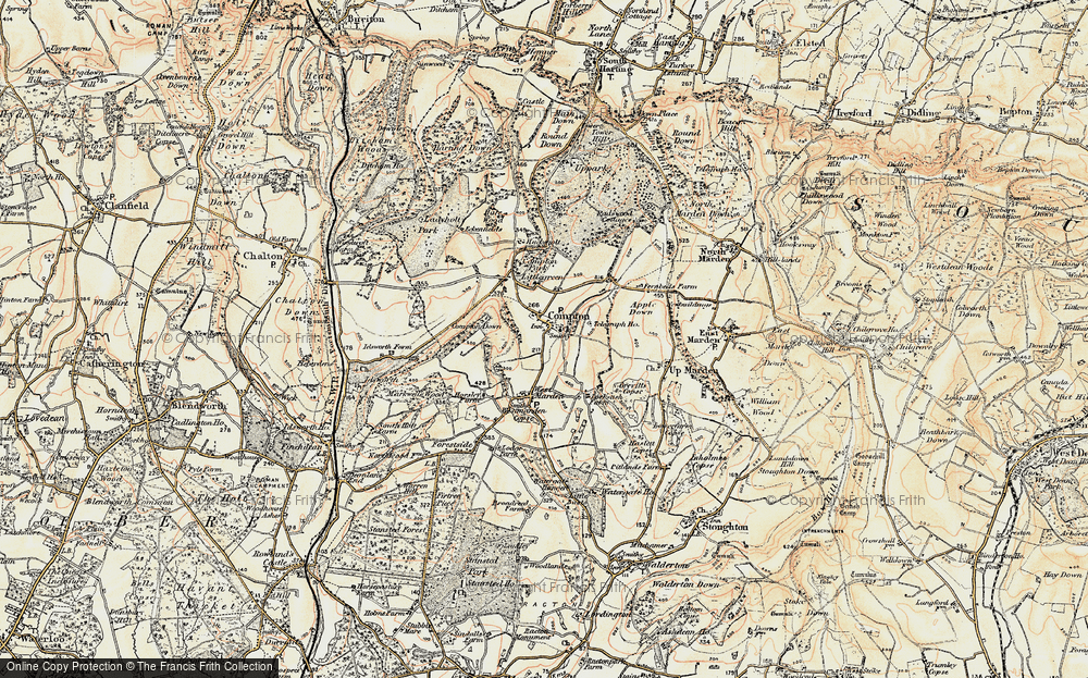 Old Map of Compton, 1897-1900 in 1897-1900