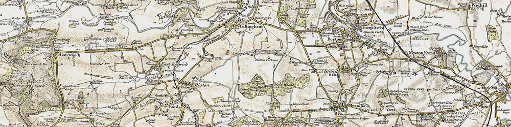 Old map of Wothersome in 1903-1904