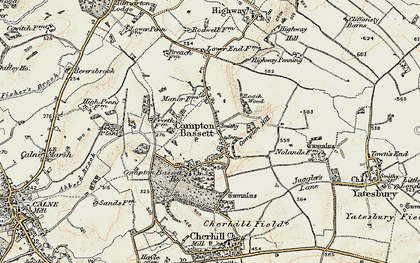 Old map of Compton Bassett in 1899