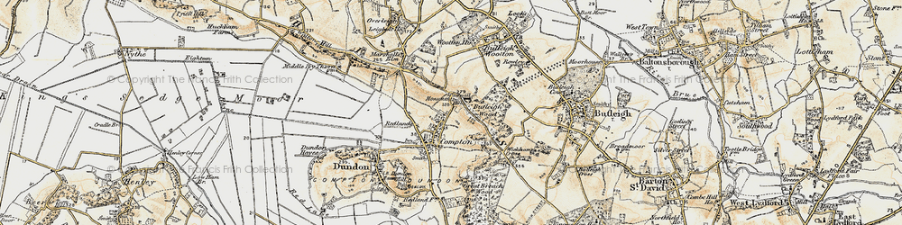 Old map of Compton Dundon in 1899