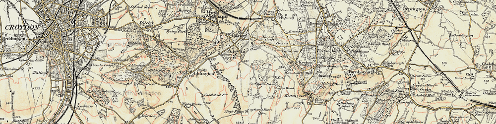 Old map of Wickham Court in 1897-1902