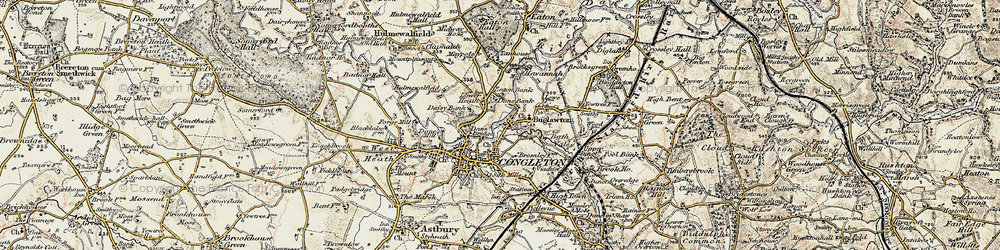Old map of Congleton in 1902-1903