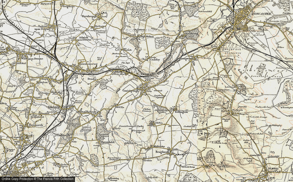 Old Map of Conisbrough, 1903 in 1903