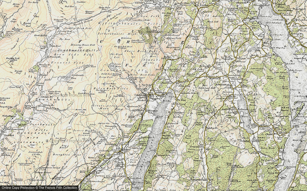 Old Map of Coniston, 1903-1904 in 1903-1904