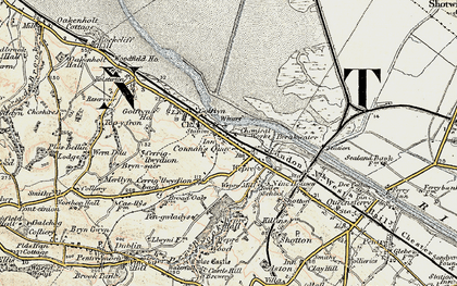 Old map of Connah's Quay in 1902-1903