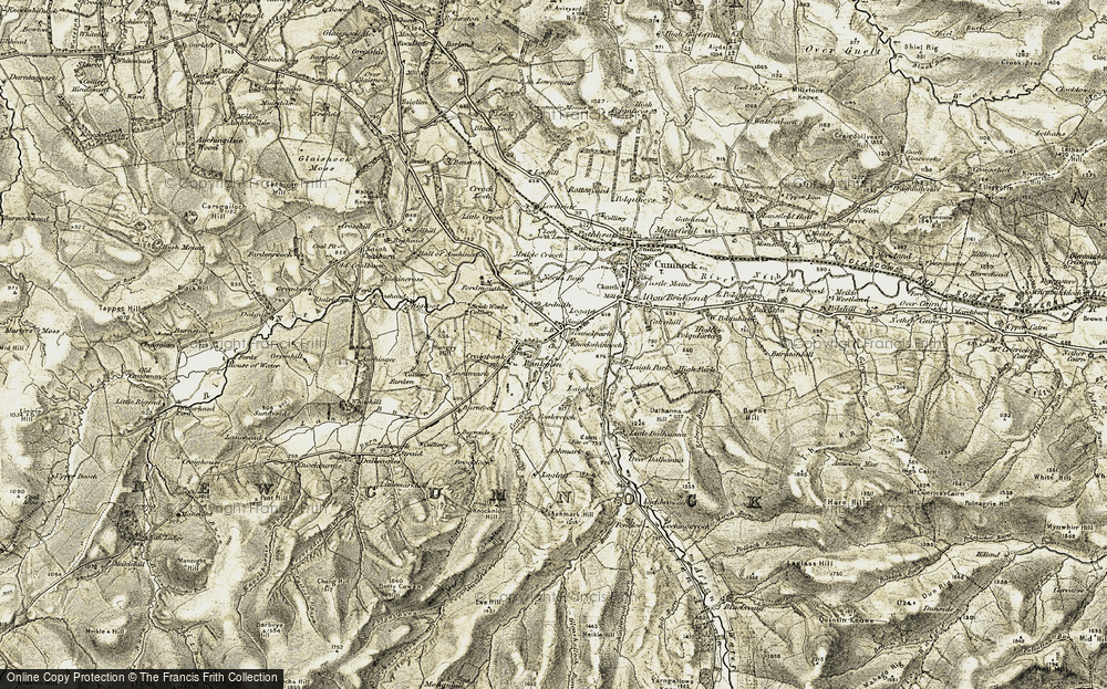 Old Map of Historic Map covering Ashmark in 1904-1905