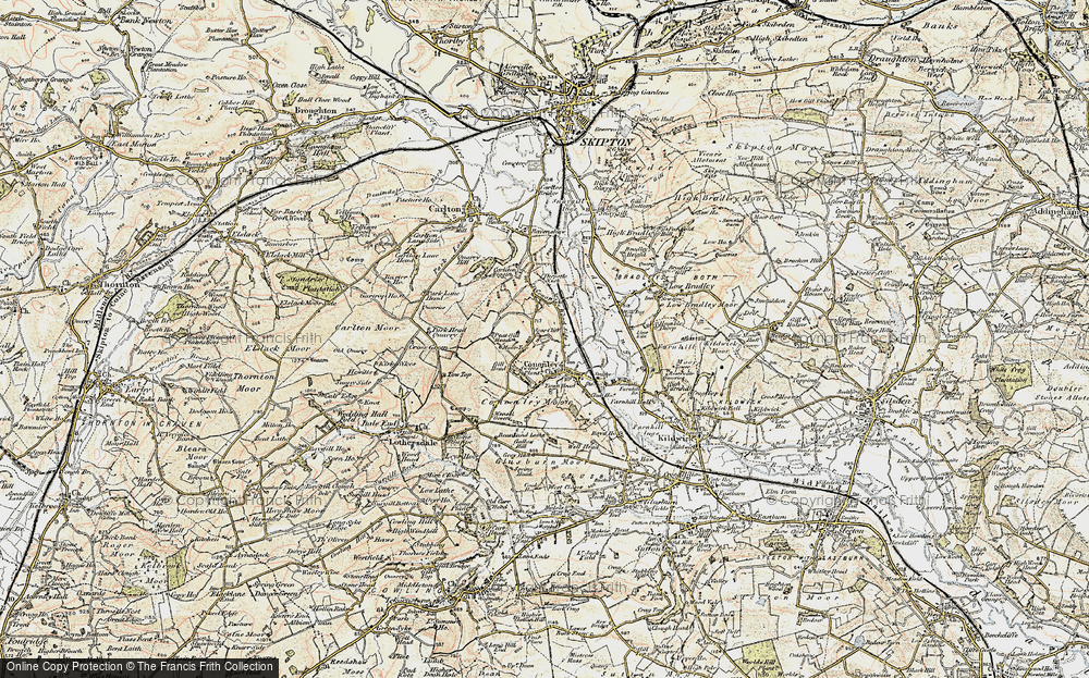 Old Map of Cononley, 1903-1904 in 1903-1904