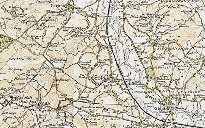 Old map of Cononley in 1903-1904