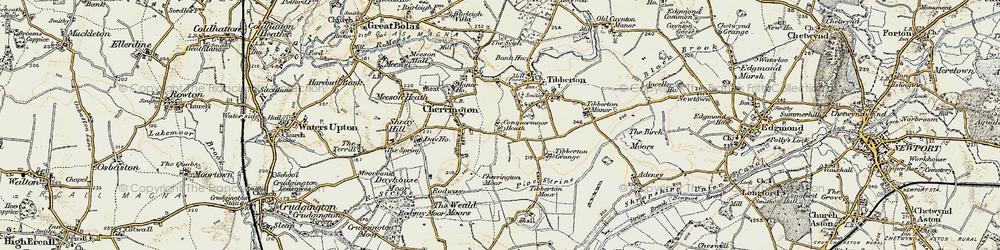 Old map of Tibberton Grange in 1902