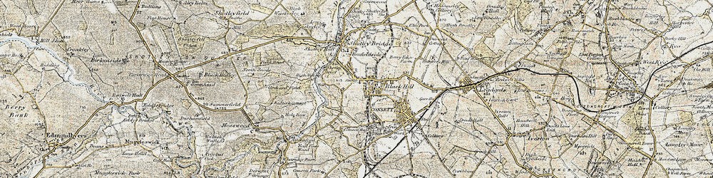 Old map of Consett in 1901-1904