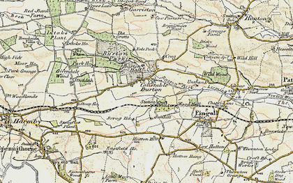 Old map of Wood Hall in 1904