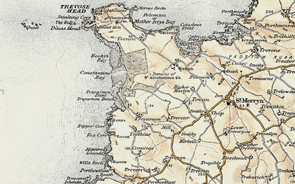 Old map of Constantine Bay in 1900