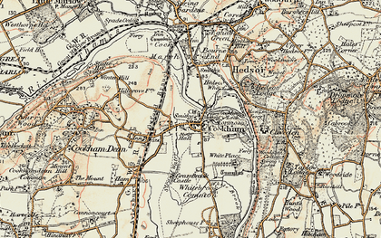 Old map of Widbrook Common in 1897-1909
