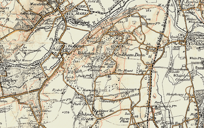Old map of Cookham Dean in 1897-1909