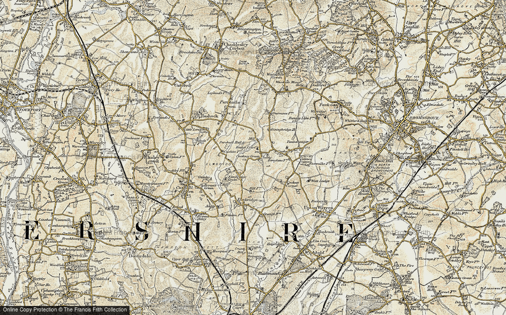 Old Map of Historic Map covering Badge Court in 1901-1902