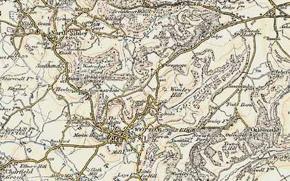 Old map of Wimley Hill in 1898-1900