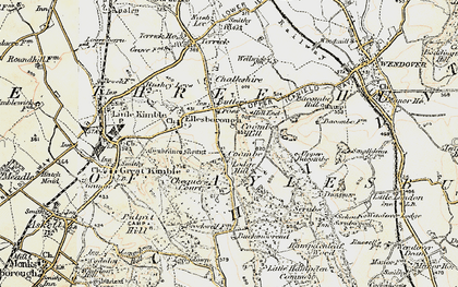 Old map of Coombe in 1898