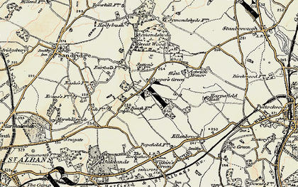 Old map of Cooper's Green in 1898