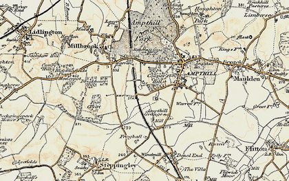 Old map of Cooper's Hill in 1898-1901