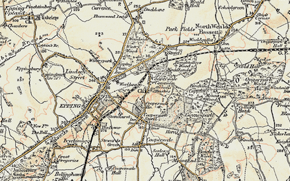 Old map of Coopersale Common in 1897-1898
