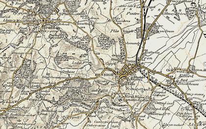 Old map of Copenhagen in 1902-1903