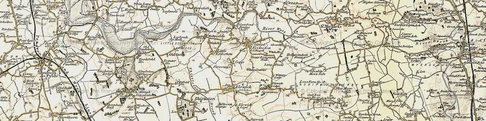 Old map of White Crosses in 1903-1904