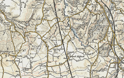 Old map of Coppull in 1903