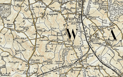 Old map of Lapworth Park in 1901-1902