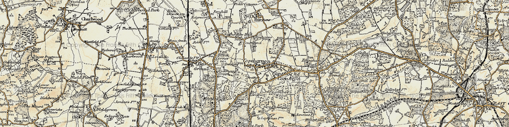 Old map of Copthorne Bank in 1898-1902