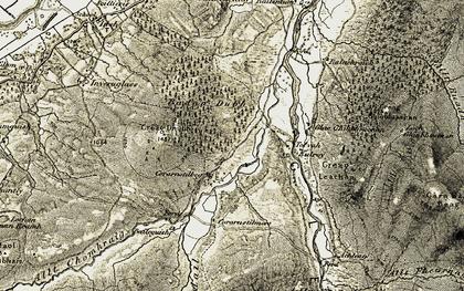 Old map of Allt Fhearnasdail in 1908