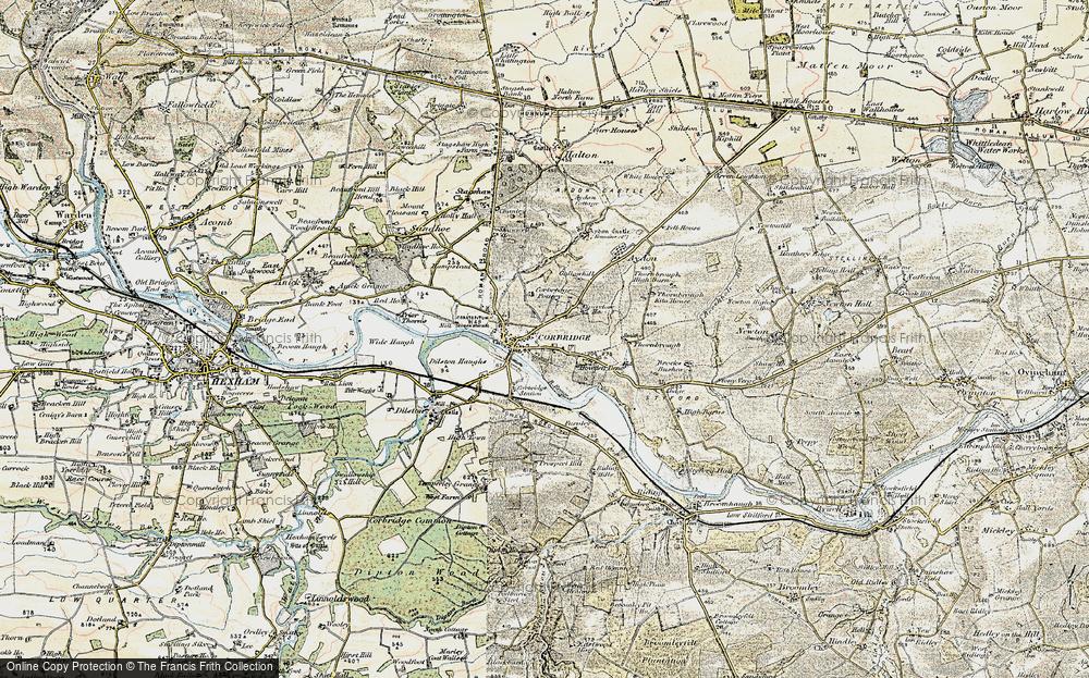 Old Map of Corbridge, 1901-1904 in 1901-1904