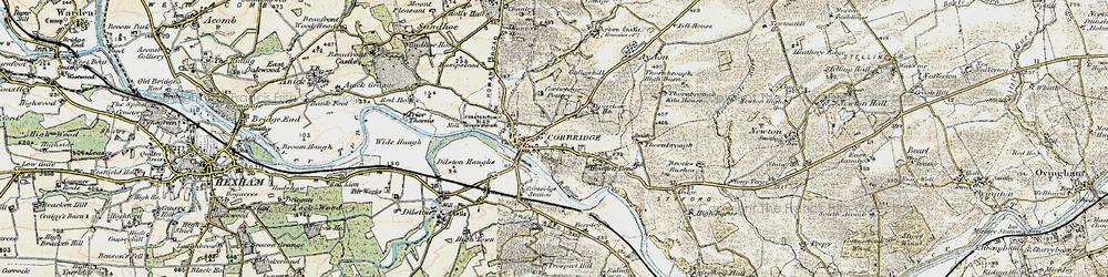 Old map of Corbridge in 1901-1904