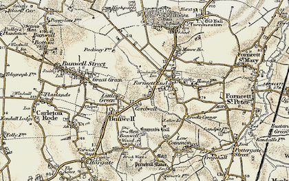 Old map of Banyards Hall in 1901-1902