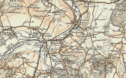 Old map of Cores End in 1897-1898