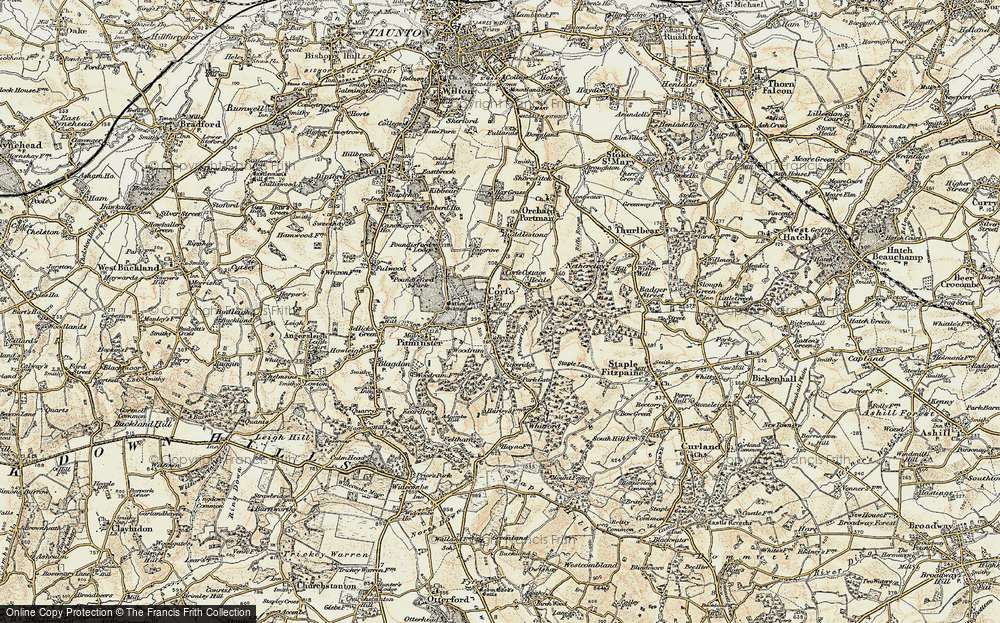 Old Map of Corfe, 1898-1900 in 1898-1900