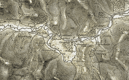 Old map of Allargue Ho in 1908