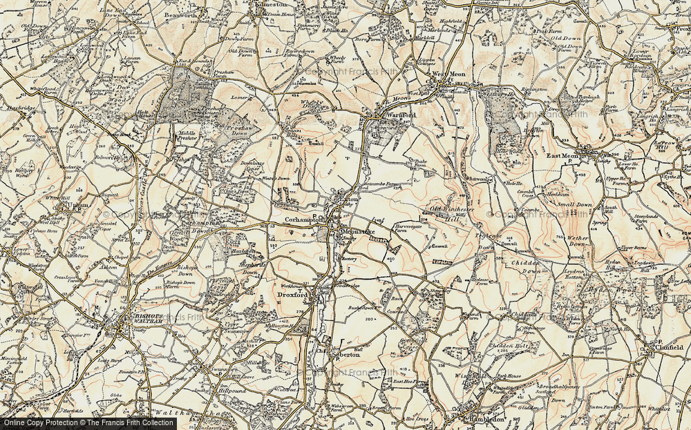 Old Map of Corhampton, 1897-1900 in 1897-1900