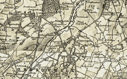 Old map of Auchanland in 1910