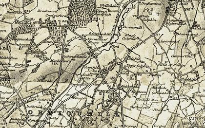 Old map of Leggsmill in 1910