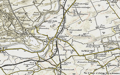 Old map of Cornhill on-Tweed in 1901-1904